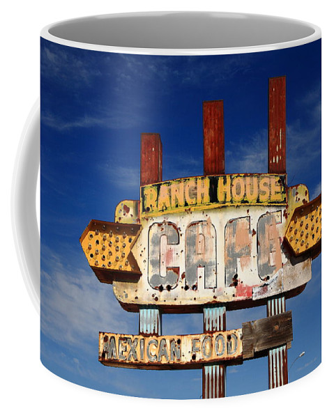 66 Coffee Mug featuring the photograph Route 66 Cafe by Frank Romeo
