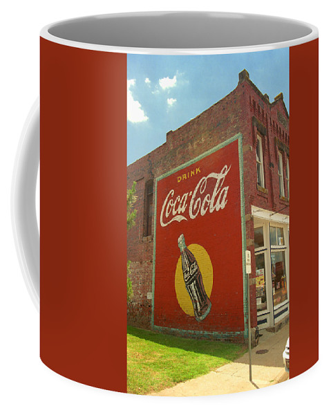 66 Coffee Mug featuring the photograph Route 66 - Coca Cola Ghost Mural by Frank Romeo