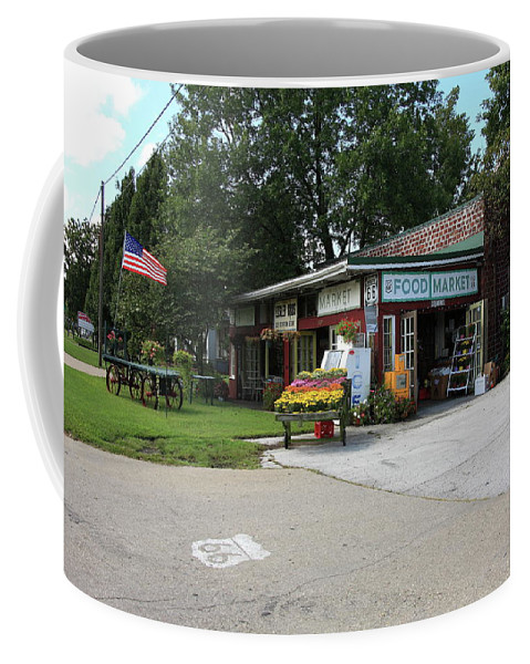 66 Coffee Mug featuring the photograph Route 66 - Eisler Brothers Old Riverton Store by Frank Romeo