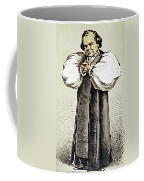 1869 Coffee Mug featuring the painting Samuel Wilberforce (1805-1873) by Granger