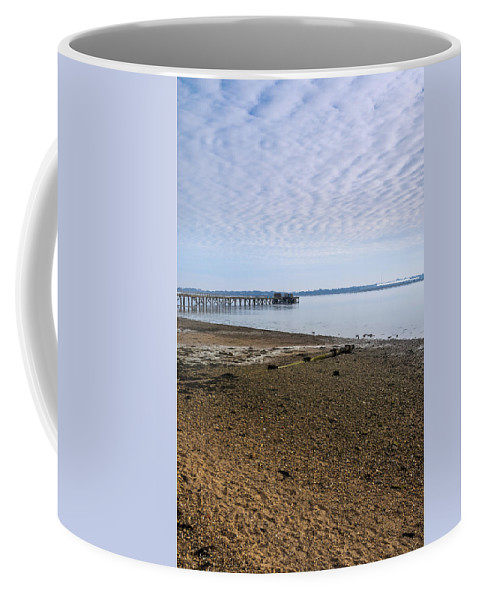 Bay Coffee Mug featuring the photograph Sandy Beach by Svetlana Sewell