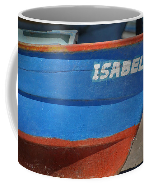 Panga Coffee Mug featuring the photograph Santa Rosalia Harbor 12 by Jeff Brunton