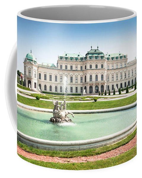 Old Coffee Mug featuring the photograph Schloss Belvedere In Vienna by JR Photography