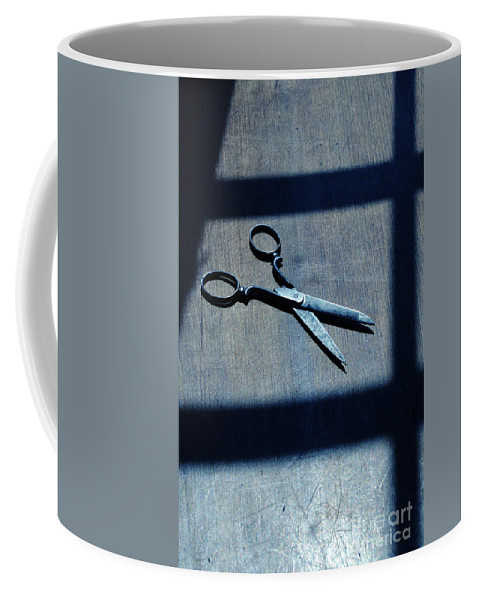 Scissors Coffee Mug featuring the photograph Scissors by Jill Battaglia