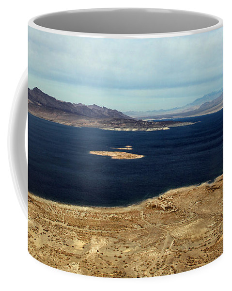 Lake Mead Coffee Mug featuring the photograph Shades Of Blue by Debbie Oppermann