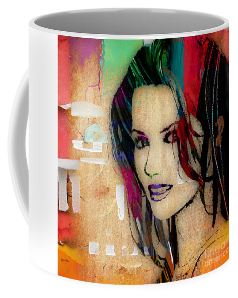 Shania Twain Coffee Mug featuring the mixed media Shania Twain Collection by Marvin Blaine