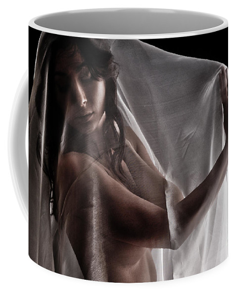 Position Coffee Mug featuring the photograph Sheer Nude by Jt PhotoDesign