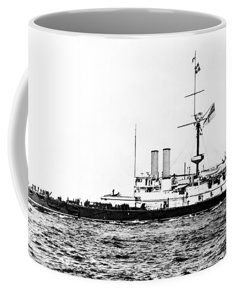 1893 Coffee Mug featuring the photograph Ships Hms 'victoria by Granger