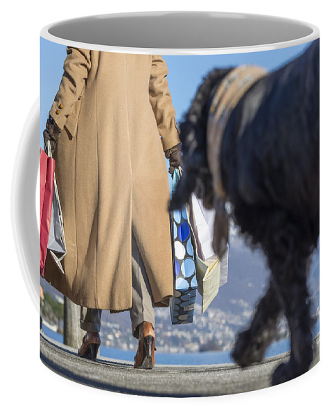 Woman Coffee Mug featuring the photograph Shopping Bags by Mats Silvan