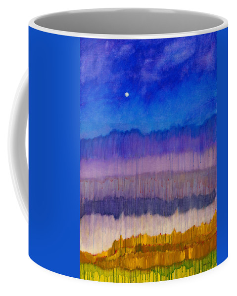 Colorchrome Scans Coffee Mug featuring the painting Silent Night by Jerome Lawrence