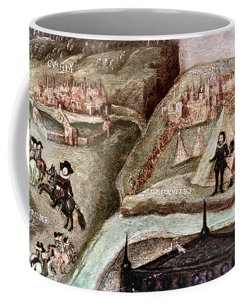 1595 Coffee Mug featuring the painting Sir Henry Unton (c1557-1596) by Granger