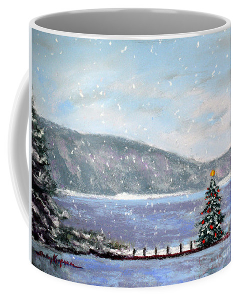 Christmas Coffee Mug featuring the painting Smith Mountain Lake Christmas by Shelley Koopmann