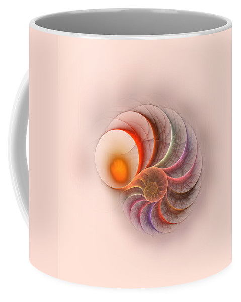 Spirale Fractal Digital Art Color Colorful Abstract Coffee Mug featuring the digital art Spirale by Steve K