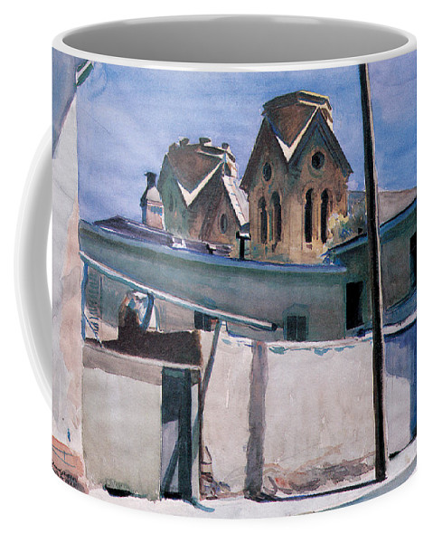 St. Francis's Towers Coffee Mug featuring the photograph St Francis Towers Santa Fe by Edward Hopper
