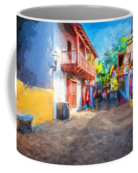 St. George Street Coffee Mug featuring the photograph St George Street St Augustine Florida Painted by Rich Franco