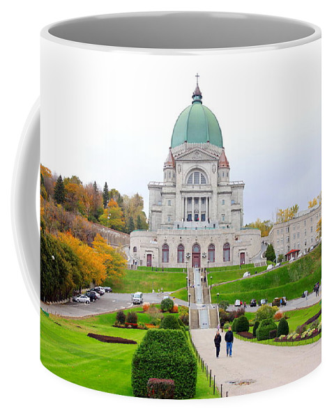 Montreal Coffee Mug featuring the photograph St. Joseph Oratory by Valentino Visentini