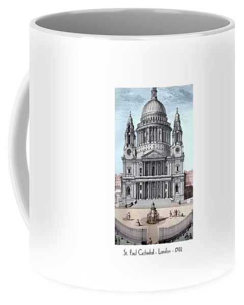 Anglican Coffee Mug featuring the digital art St. Paul Cathedral - London - 1792 by John Madison