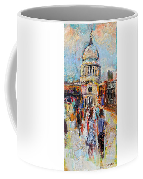 Abstract Coffee Mug featuring the St Paul's From The Millennium Bridge by Sylvia Paul