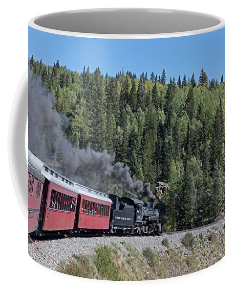 Antonito Coffee Mug featuring the photograph Steam Engine 488 At Osier On The Cumbres And Toltec Scenic Railroad by Fred Stearns