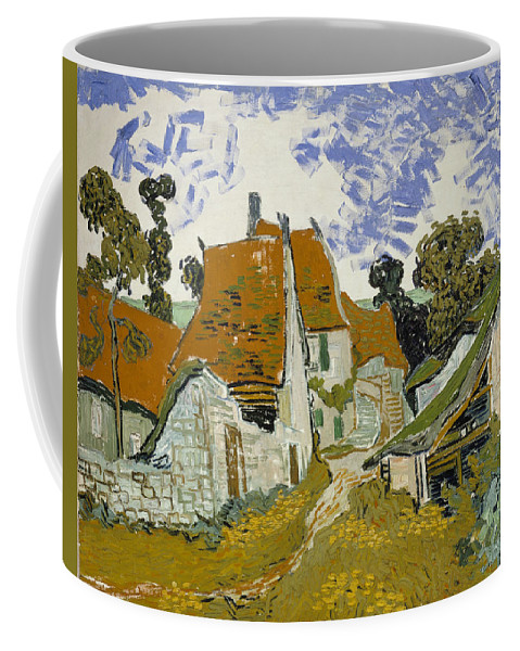 Vincent Van Gogh Coffee Mug featuring the painting Street In Auvers-sur-oise by Vincent Van Gogh