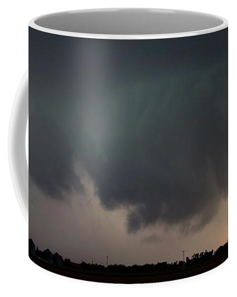 Stormscape Coffee Mug featuring the photograph Strong Nebraska Supercells by NebraskaSC