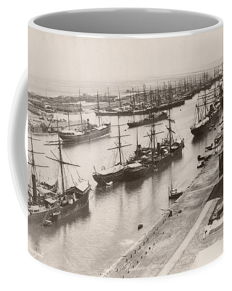 1894 Coffee Mug featuring the photograph Suez Canal Port Said by Granger