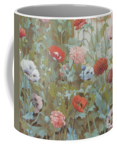 John William Godward Coffee Mug featuring the digital art Summer Flowers by John William Godward