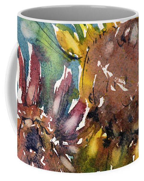 Flower Coffee Mug featuring the painting Sunflower by Judith Levins