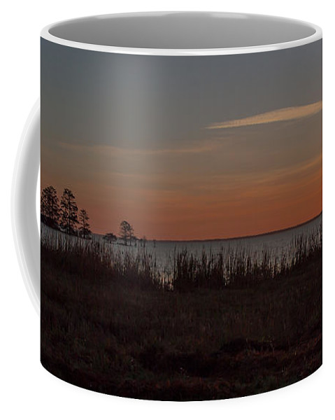 Sun Coffee Mug featuring the photograph Sunrise On Lake Mattamuskeet by Scott Hervieux