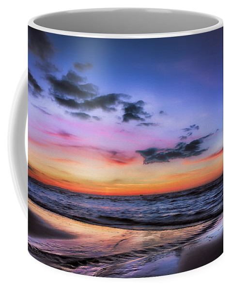 British Coffee Mug featuring the photograph Sunset Seascape by Adrian Evans