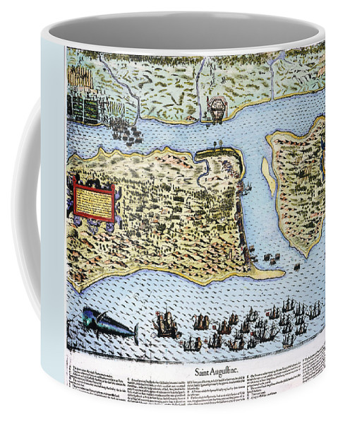 1586 Coffee Mug featuring the photograph Taking Of St. Augustine by Granger