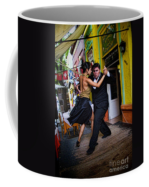 Buenos Aires Coffee Mug featuring the photograph Tango Dancing In Buenos Aires Argentina by David Smith
