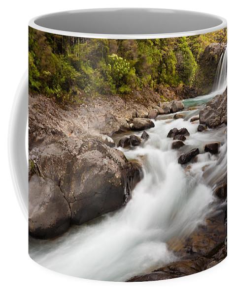 Mount Coffee Mug featuring the photograph Tawhai Falls In Tongariro Np New Zealand by Stephan Pietzko