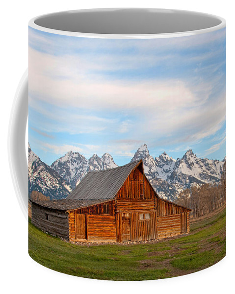 Grand Teton Coffee Mug featuring the photograph Teton Barn by Steve Stuller