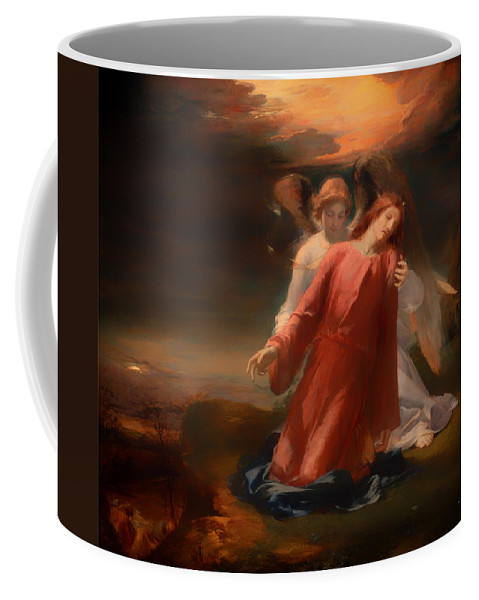 Painting Coffee Mug featuring the painting The Agony In The Garden by Mountain Dreams