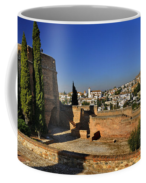 The Alhambra Coffee Mug featuring the photograph The Alhambra Palace Cubo Tower by Guido Montanes Castillo
