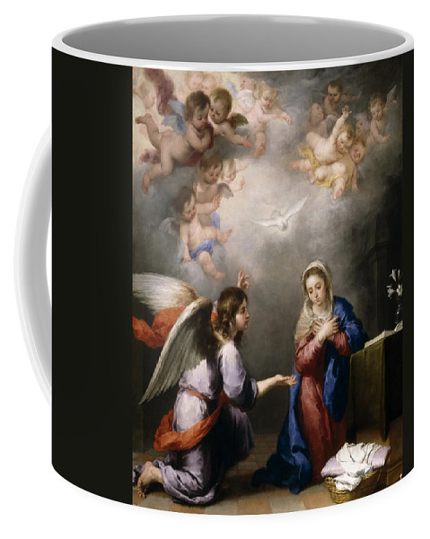 Bartolome Esteban Murillo Coffee Mug featuring the painting The Annunciation by Bartolome Esteban Murillo