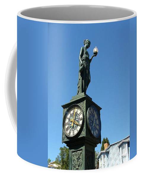Lyle Coffee Mug featuring the painting The Clock by Lord Frederick Lyle Morris