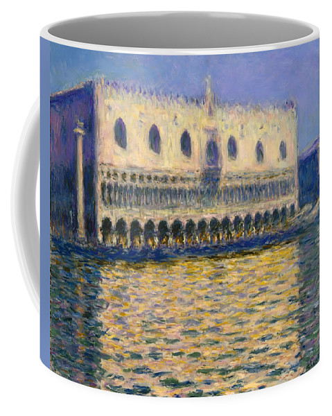 Painting Coffee Mug featuring the painting The Doges Palace by Mountain Dreams