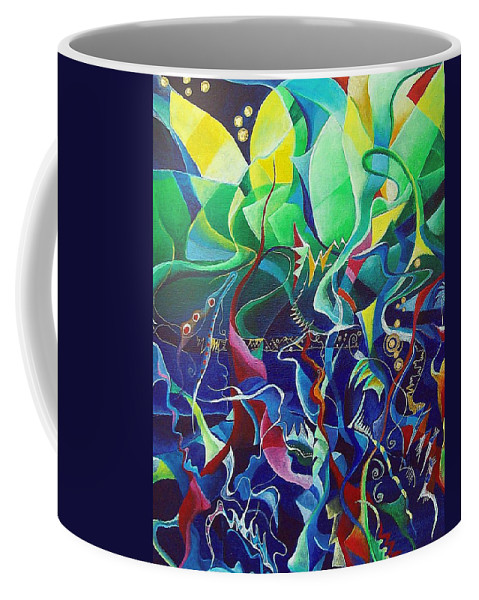 Darius Milhaud Coffee Mug featuring the painting the dreams of Jacob by Wolfgang Schweizer