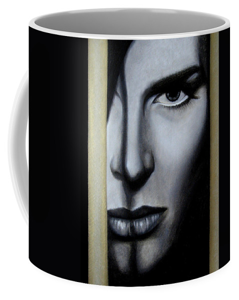Woman Coffee Mug featuring the painting The Golden Cage by Lynet McDonald