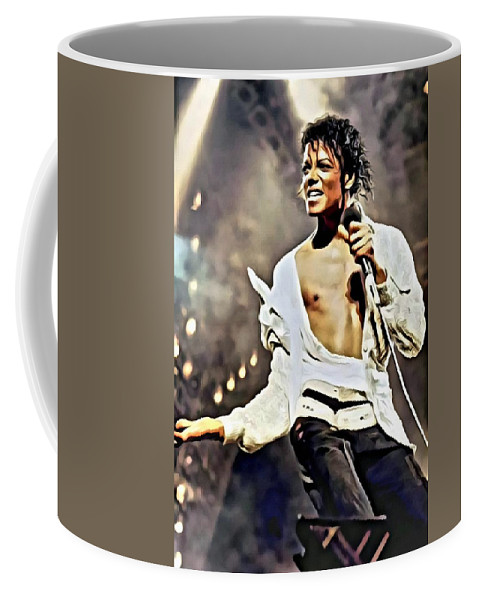 Michael Jackson Coffee Mug featuring the painting The King of Pop by Florian Rodarte