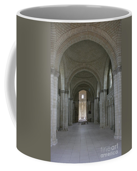 Nave Coffee Mug featuring the photograph The Nave - Cloister Fontevraud by Christiane Schulze Art And Photography