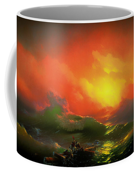 Sea Coffee Mug featuring the painting The Ninth Wave by Mountain Dreams