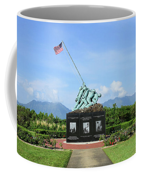 Horizontal Coffee Mug featuring the photograph The Pacific War Memorial On Marine by Stocktrek Images