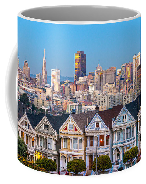 Francisco Coffee Mug featuring the photograph The Painted Ladies Of San Francisco by Luciano Mortula