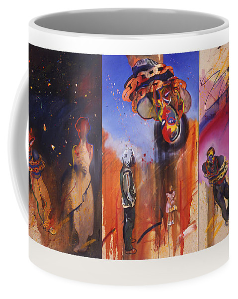 Figures Coffee Mug featuring the painting The Secret Identity by Charles Stuart