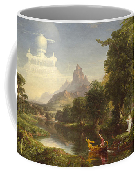Thomas Cole Coffee Mug featuring the painting The Voyage Of Life Youth by Thomas Cole