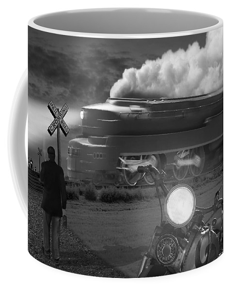 Transportation Coffee Mug featuring the photograph The Wait by Mike McGlothlen