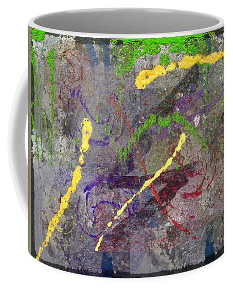 Abstract Coffee Mug featuring the digital art The Writing On The Wall 11 by Tim Allen